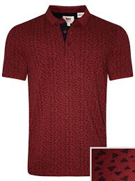 Levis 4 Floors Powell by Levis Red Printed Polo Tee 17465 0072 Cilory Com
