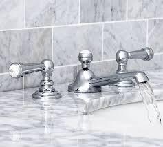 Bathroom Faucet Fixtures by Reyes Lever Handle Widespread Bathroom Faucet Pottery Barn