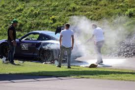 ultraviolet 2016 porsche 911 gt3 rs catches fire gtspirit