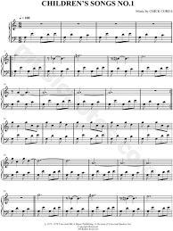corea children s songs no 1 sheet piano in c