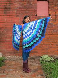 Peacock Halloween Costume Women Diy Halloween Costumes Homemade Wings Bird Costume Blue Bird