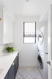 brilliant laundry room window treatments with black countertops