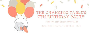 The Changing Table Okc The Changing Table S 7th Birthday