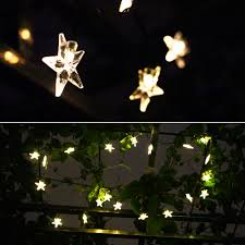 Solar Powered Patio Lights String by Agptek 20 Led Solar Star Powered Outdoor String Lights Waterproof