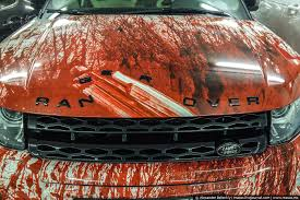 turbo man halloween costume range rover evoque gets bloody makeover in russia as halloween