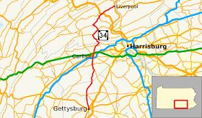 Appalachian Trail Map Pennsylvania by Pennsylvania Route 34 Wikipedia