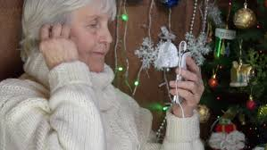 what to get an elderly woman for christmas grandmother in new year took up phone senior enjoy
