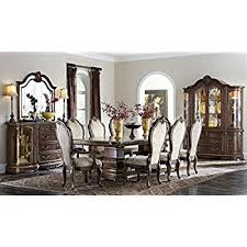 amazon com hollywood swank 9 piece leg dining table and chair