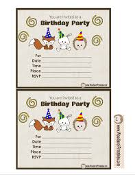 free printable woodland birthday party invitations