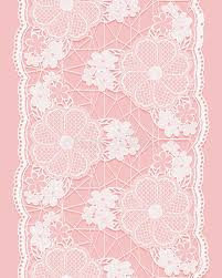 ribbon lace white seamless lace ribbon on pink background vertical border of