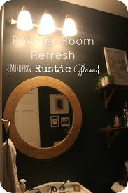 Powder Room D Powder Room Refresh Reveal Modern Rustic This Is Our Bliss