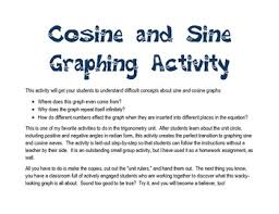 unit circle sine cosine graphing activity by algebra awesomeness