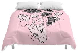 Northern Lights Comforters Society6 Witchcraft Comforter Contemporary Comforters And