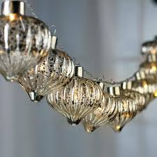 silver mercury glass ornament led light garland lighting