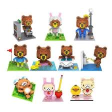 loz diamond blocks brown line rilakkuma pen pencil holder loz diamond block