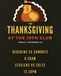 steelers thanksgiving the 19th club the19th club twitter