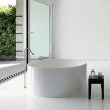 vascatonda 120 140cm solid surface free standing bathtub round shape