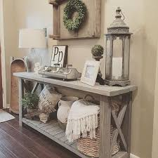 entryway table with storage farmhouse console table vignette with a storage shelf homes