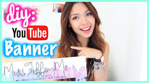 Best Home Design Youtube Channels How To Make A Youtube Banner Channel Art Diy Misstiffanyma Youtube