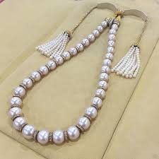 pearl necklace with diamonds images Best 25 pearl and diamond necklace ideas diamond jpg