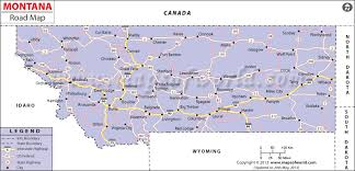 road maps for usa montana road map highway map of montana