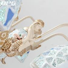 Schlafzimmer Lampe Gold Tiffany Kronleuchter Beleuchtung Stil Antike Lampe Wandleuchte