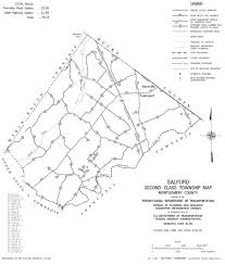 Map Of Montgomery County Pa Salford Township Montgomery County Pennsylvania Road Map
