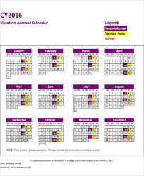 excel employee vacation tracking calendar template excelsample