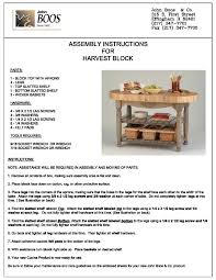 boos block butcher block table assembly instructions harvest table page 1