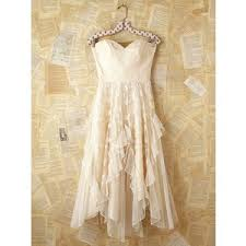 free people vintage white lace strapless dress polyvore