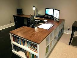 Desk With Computer Storage Small Workstation Desk Medium Size Of Shelf Desktop Furniture
