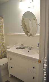 Wainscoting Bathroom Vanity Accessories Charming Small Bathroom Decoration Using Round