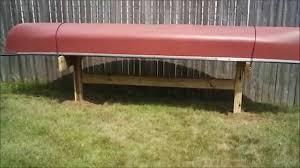 Wooden Kayak Storage Rack Plans by Diy Canoe Storage Rack Youtube