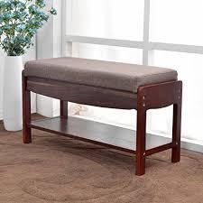 Closet Storage Bench Amazon Com Naturalforest Wooden Shoe Rack For Closet Dark Brown