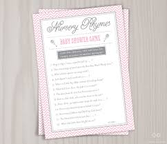 thanksgiving rhyme pink nursery rhyme baby shower game printable mother goose