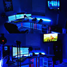 best gaming setup new pc ps4 3 monitors leds and more in