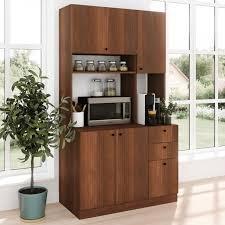 kitchen storage cabinets walmart living skog pantry kitchen storage cabinet large height 71 length 40 width 19 cherry