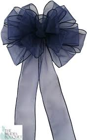 pew bows navy blue pew bows set of 4