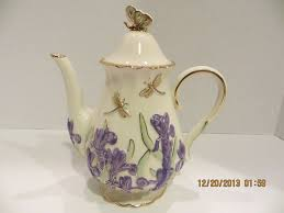 lenox springtime splendor teapot ivory china 2005 designer