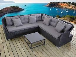 canape d angle exterieur awesome salon de jardin canape d angle resine tressee noir esmeralda