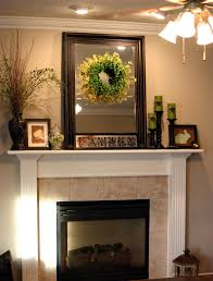fireplace mantel decorating ideas above white fireplace completed