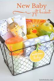 gift baskets ideas diy new baby gift basket idea and free printable fantabulosity