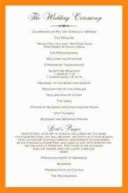 ceremony programs template 6 wedding ceremony program template resumed