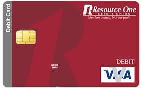 debit card visa debit card resource one credit union