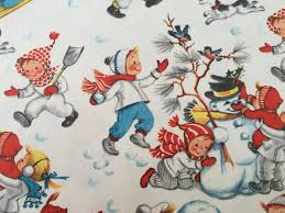 where the things are wrapping paper vintage christmas wrapping paper children by thegooseandthehound