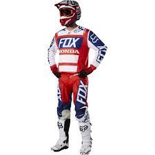 honda motocross racing fox racing 2017 180 honda jersey pants package red white available