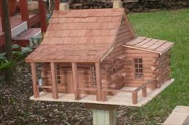 log cabin bird house plans house plan