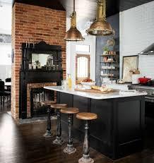 cuisine mur noir cuisine industrielle l élégance brute en 82 photos exceptionnelles