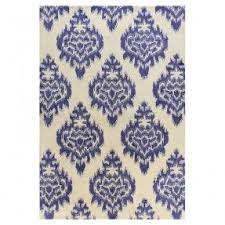 Blue And White Area Rugs Ikat Outdoor Rug Foter