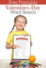 printable valentine u0027s day word search mommadjane